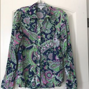 Lilly Pulitzer Button Down Size 14